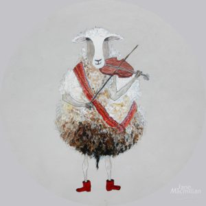 Round Table Fiddling Sheep